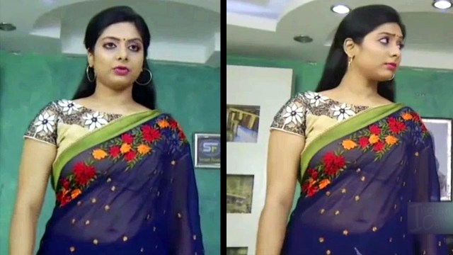 Syamantha Kiran Tamil tv actress Saravanan MS1 14 hot saree pics