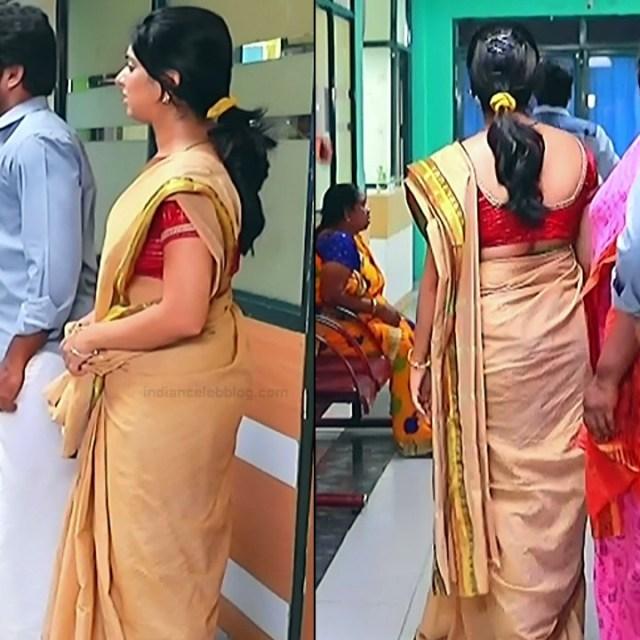 Syamantha Kiran Tamil tv actress Saravanan MS1 2 hot saree caps