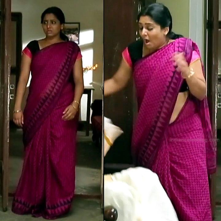 Syamantha Kiran Tamil tv actress Saravanan MS1 3 hot saree caps