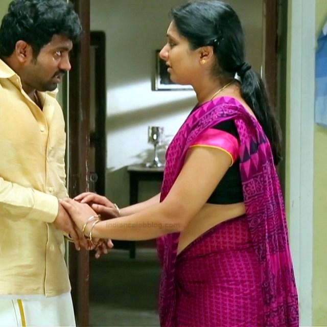Syamantha Kiran Tamil tv actress Saravanan MS1 5 hot saree photo