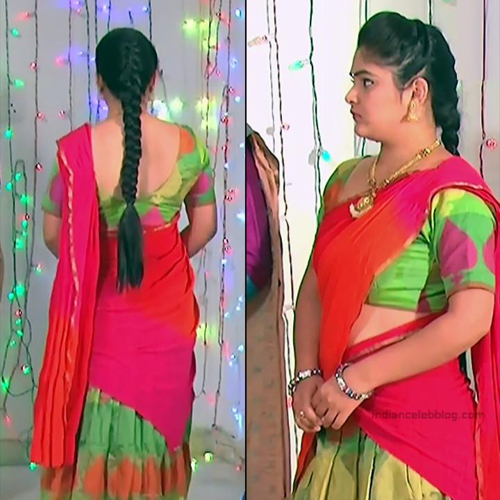 Telugu TV Actress Agnisakshi UnKS1 7 hot saree caps
