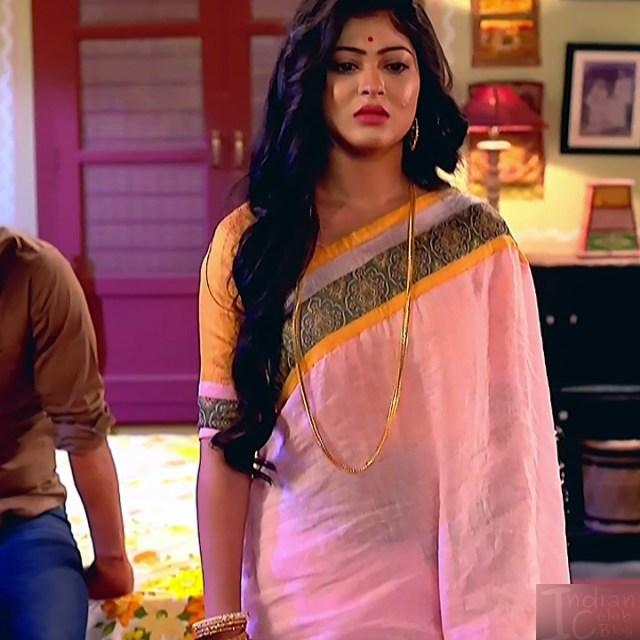 Bengali TV serial actress CompGS1 6 hot saree photo