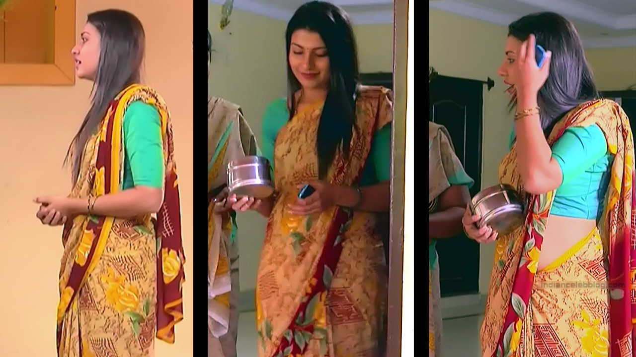 Chandana Raghavendra Kannada tv actress Sindoora S3 1 hot saree pics