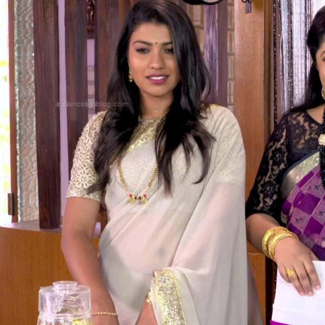 Chandana Raghavendra Kannada tv actress Sindoora S3 11 hot saree photo