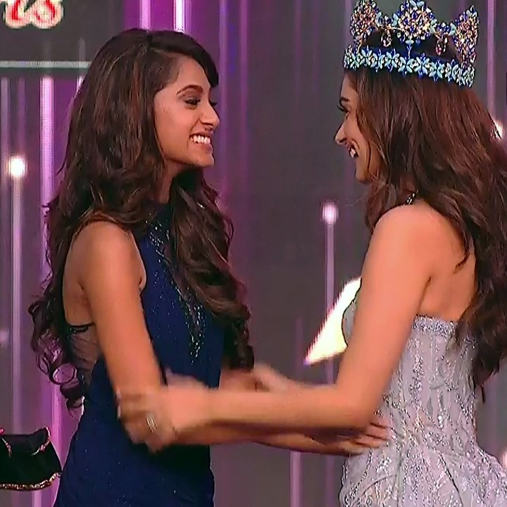 Manushi Chhillar Anukreethy Vas at Miss world 2018 Final 2