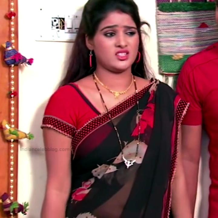 Monisha telugu tv actress Nandhini VNS1 23 hot transparent saree photo