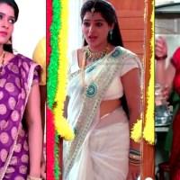 Monisha telugu tv serial actress saree navel show hd caps