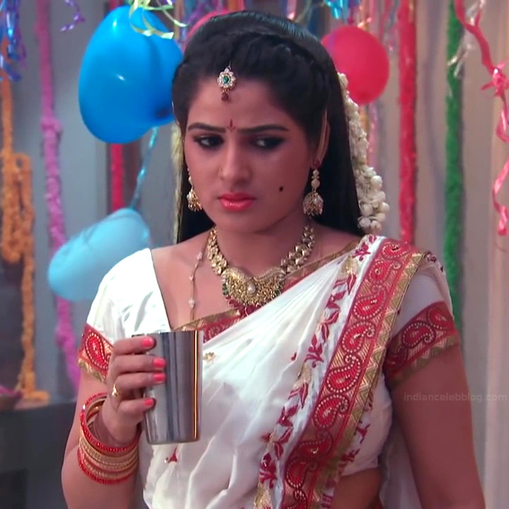 Monisha telugu tv actress Nandhini VNS1 4 hot saree photo