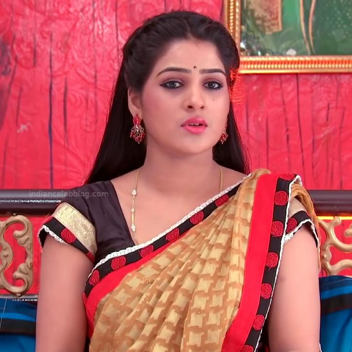 Monisha telugu tv actress Nandhini VNS1 5 hot saree photo
