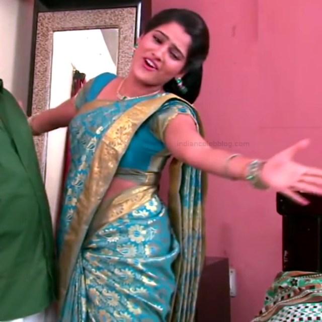 Monisha telugu tv actress Nandhini VNS1 7 hot saree photo