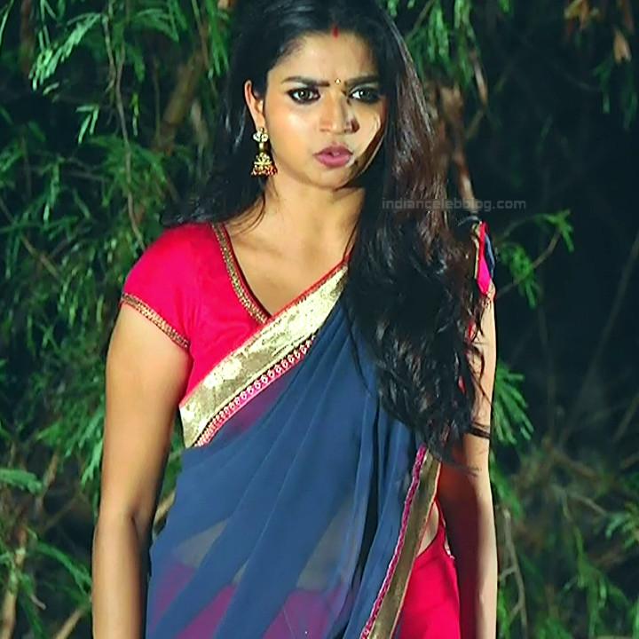 Nithya ram Tamil tv actress Nandhini S1 4 hot saree photo