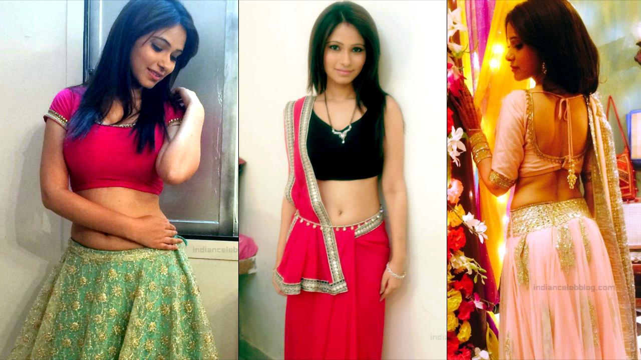 Pallavi Gupta sexy navel back show in lehenga choli Pics