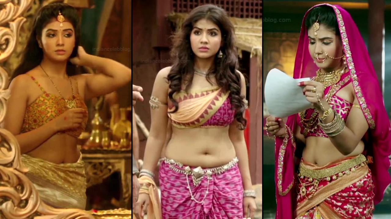 Prerna sharma sexy low waist navel show hindi tv hd caps