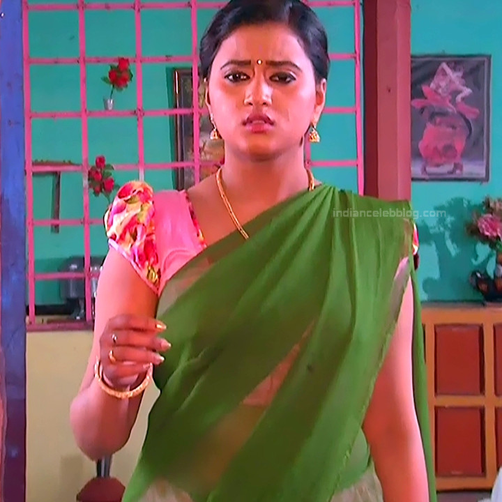 Princy B Krishnan aka Amrutha Telugu Tv actress Kumkuma PS2 4 hot saree image