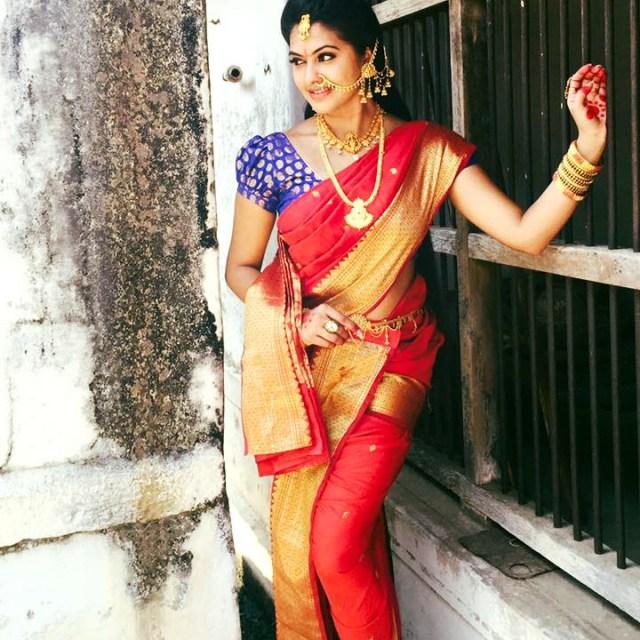 Rachitha Mahalakshmi Tamil TV actress CTS1 6 hot saree pics