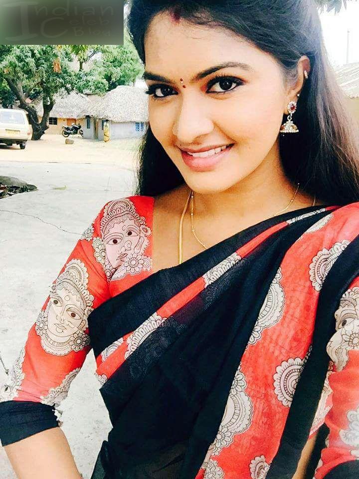 Rachitha Mahalakshmi Tamil TV actress CTS1 9 hot saree photo
