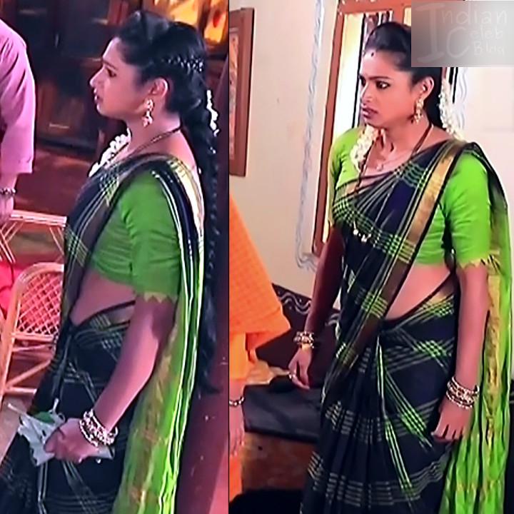 Ruthu Sai Kannada TV actress Putta GMS1 7 hot saree pics