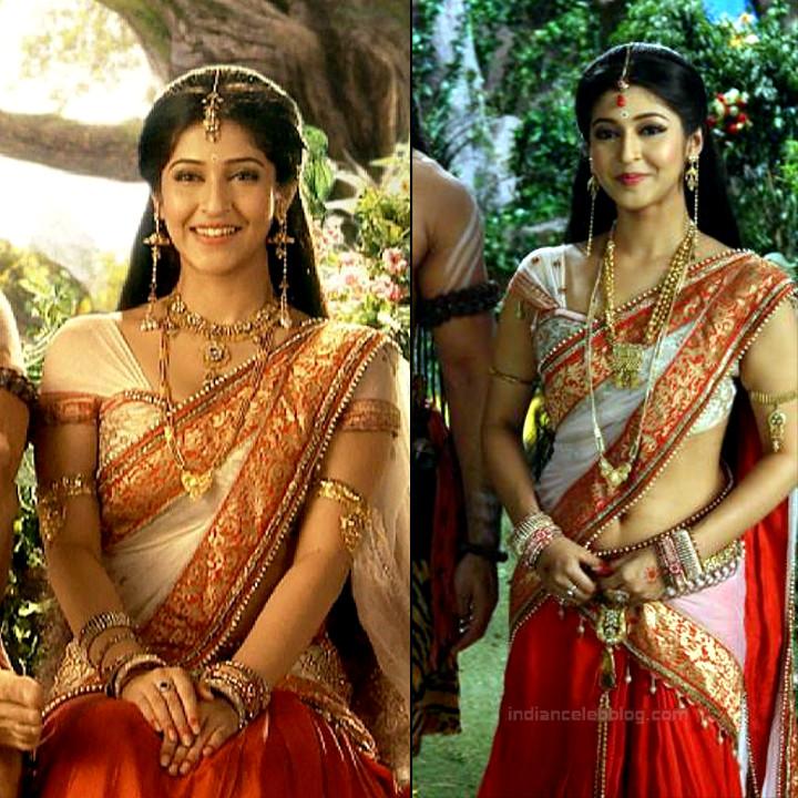 Sonarika Bhadoria Tv actress Devon ke dev CTS1_2_Hot Saree pics