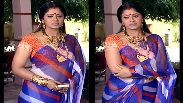 Sudha chandran tamil tv actress Pondatti TS2 1 hot saree pics