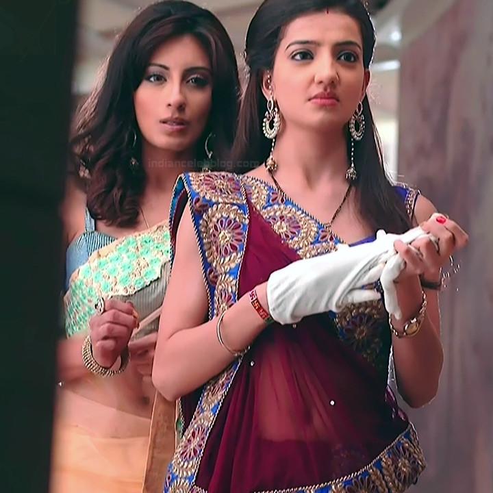 Uppekha Jain hindi tv actress Saath NSS1 3 hot saree caps