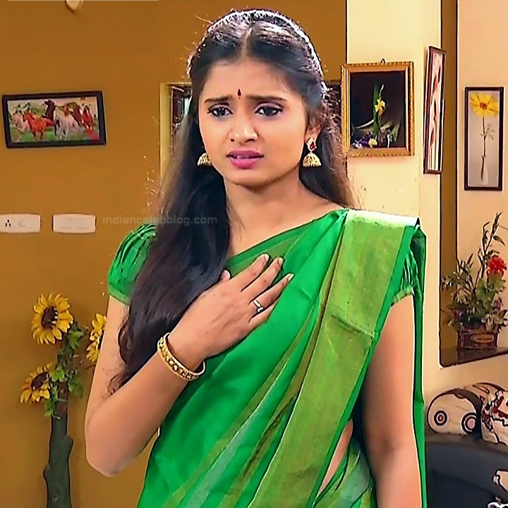 Varshini tamil tv actress sumangali S1 2 hot sari photo