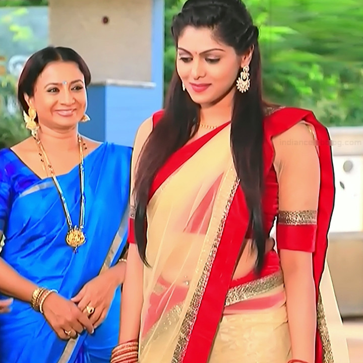 Anu Poovamma kannada tv actess Muddu LS1 6 saree photo