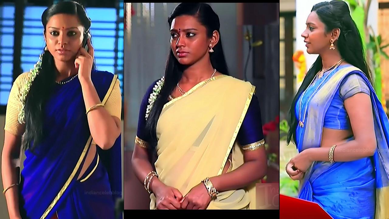 Ashwini Muddu lakshmi serial hot saree navel hd caps
