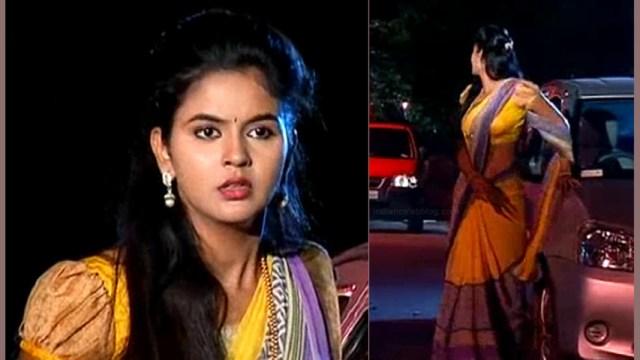 Chaitra reddy Tamil tv actress Yaarudi NMS1 18 hot saree caps