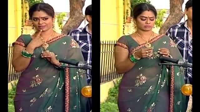 Devipriya tamil tv actress Pondatti TS1 10 hot sari photo