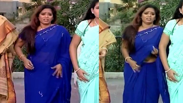Devipriya tamil tv actress Pondatti TS1 14 hot saree navel photo