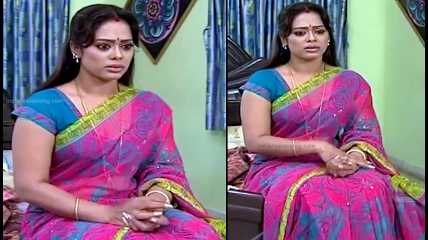 Devipriya tamil tv actress Pondatti TS1 5 hot saree caps