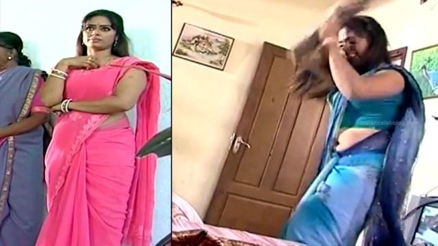 Devipriya tamil tv actress Pondatti TS1 8 hot sari pics