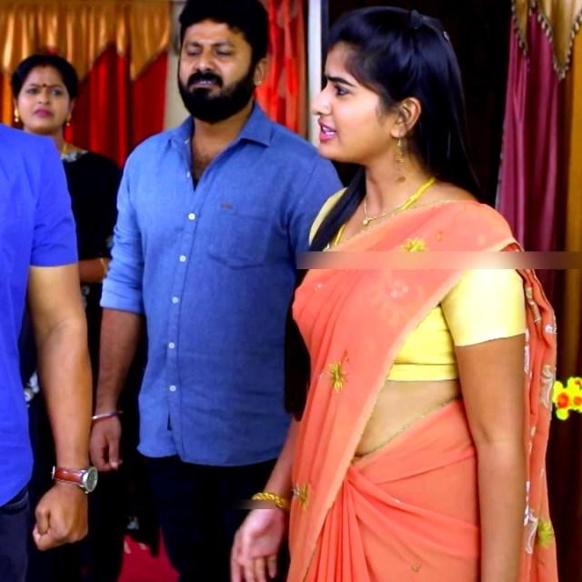 Keerthana podwal tamil tv actress ganga S1 1 hot saree photo
