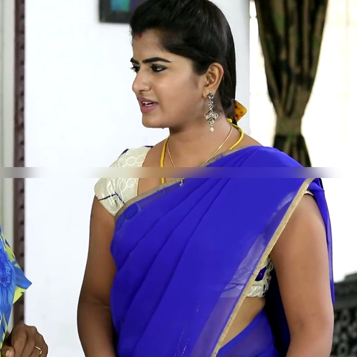 Keerthana podwal tamil tv actress ganga S1 2 hot saree photo
