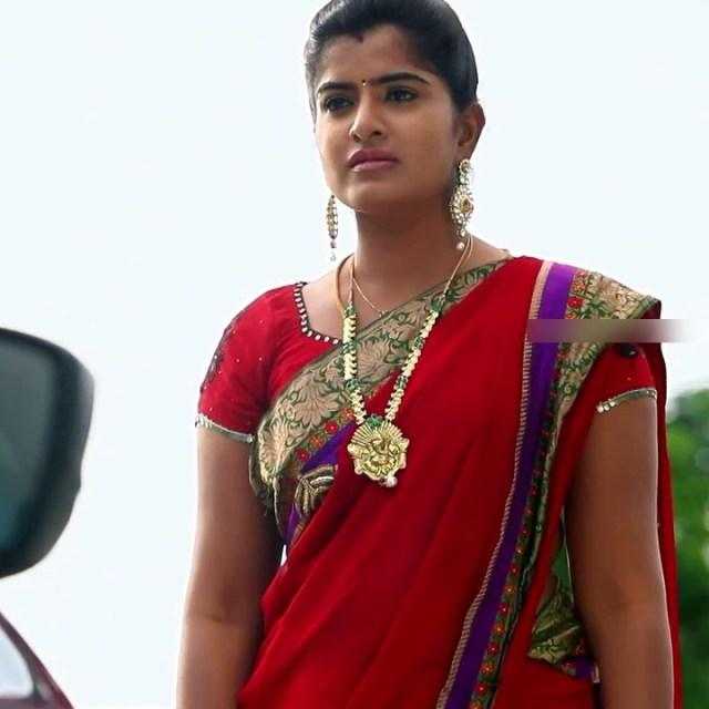 Keerthana podwal tamil tv actress ganga S1 3 hot saree photo