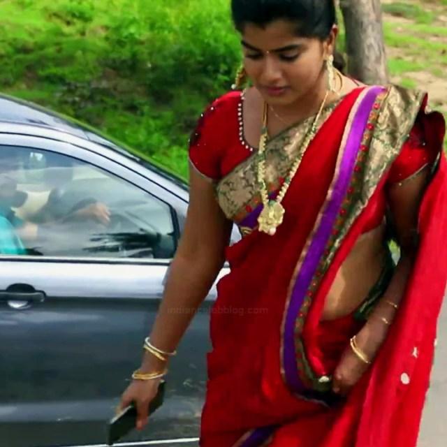 Keerthana podwal tamil tv actress ganga S1 4 hot saree caps
