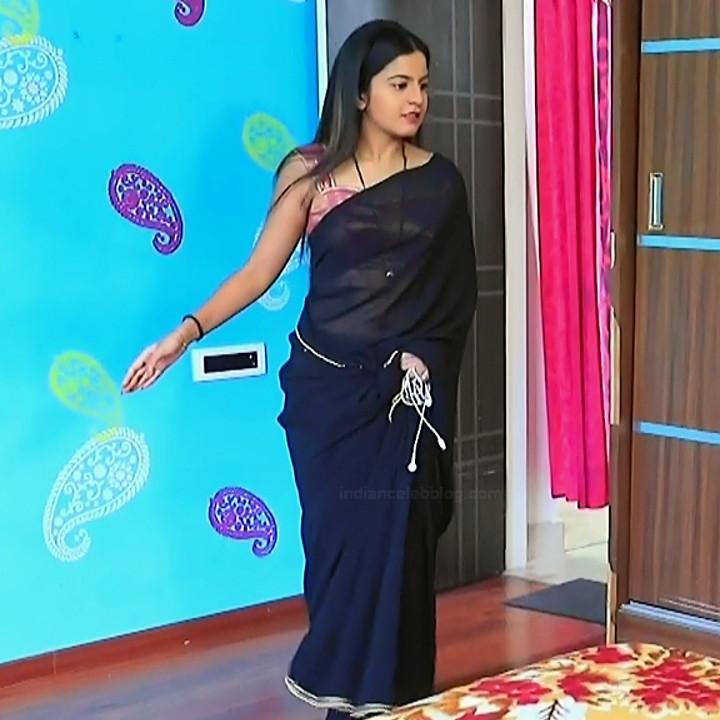 Namratha gowda kannada tv actress Putta GMS1 10 hot saree caps