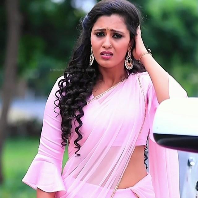 Neha Gowda Kannada tv actress Lakshmi BS1 5 hot saree photo