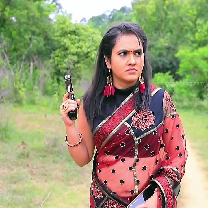 Sindhu Kalyan kannada tv actress PuttaGMS2 5 hot saree photo