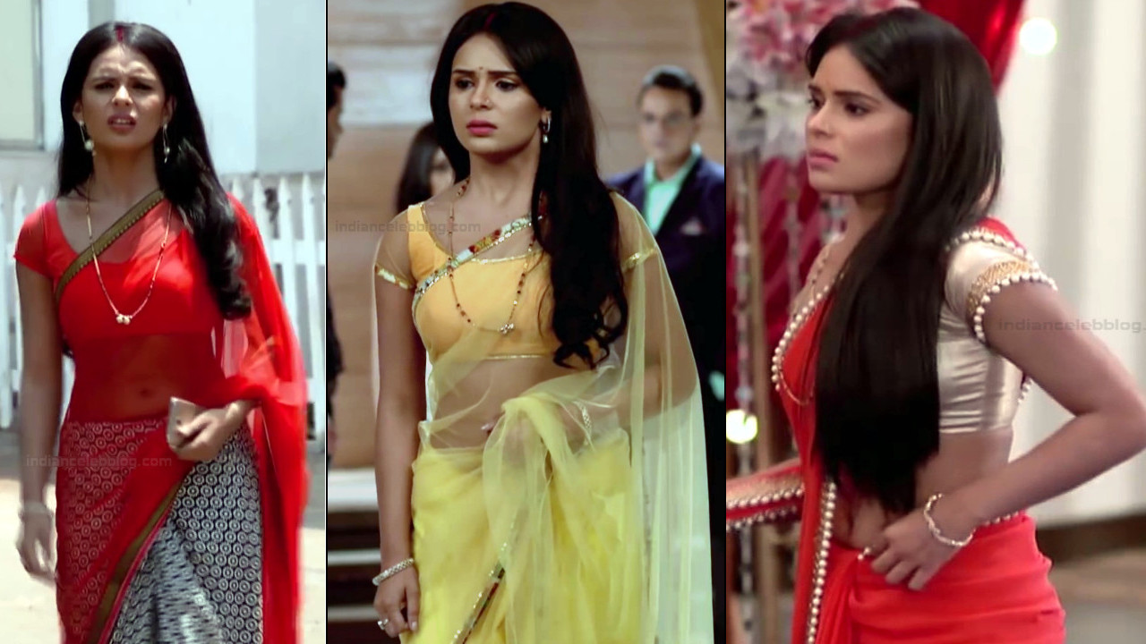 Sonal Vengurlekar sexy navel in see through sari tv caps