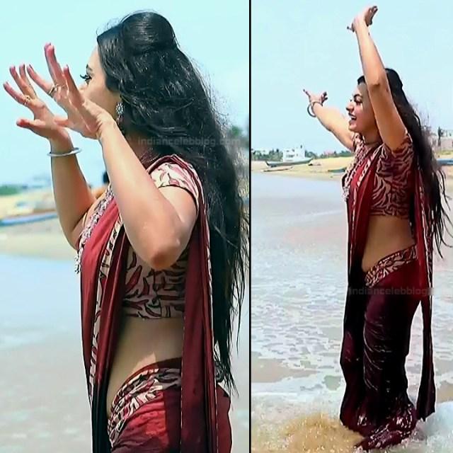 Sowmya rao Tamil tv actress Nenjam MS1 10 hot sari pics