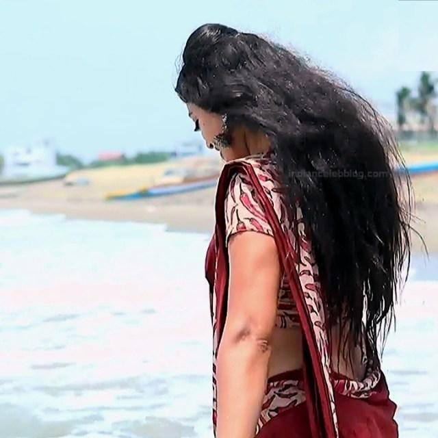 Sowmya rao Tamil tv actress Nenjam MS1 8 hot sari photo