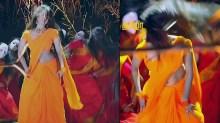 Malavika wales tamil tv actress Nandhini S1 11 hot saree pics