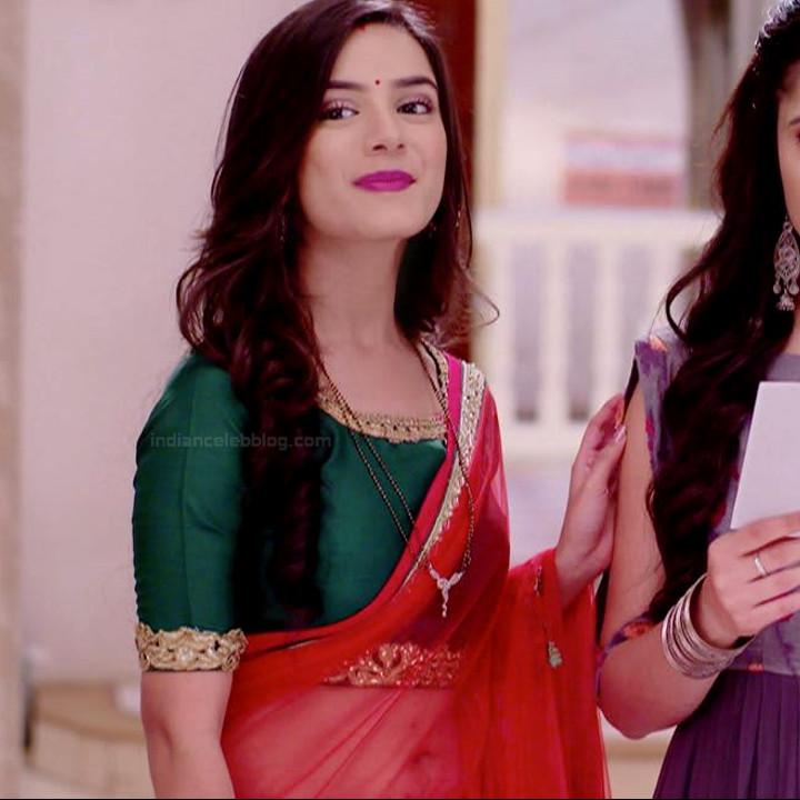 Nikki sharma hindi tv show Roop MKNSS2 11 transparent saree photo