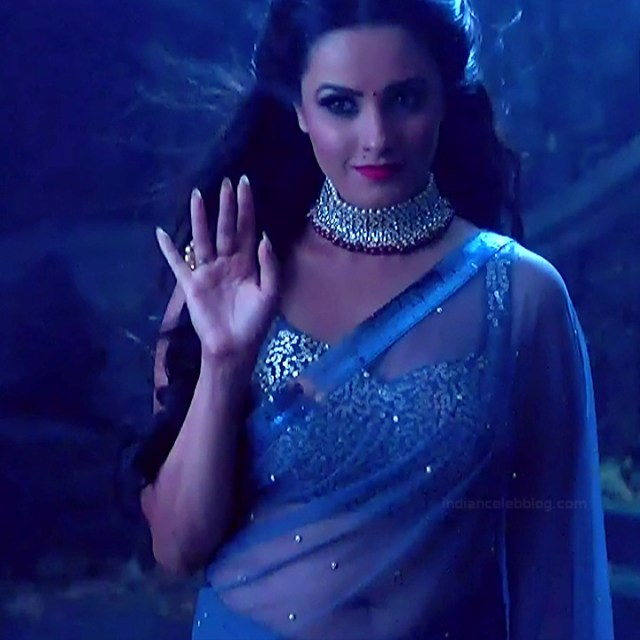 Anita hassanandani hindi tv actress Naagin S1 13 hot saree caps