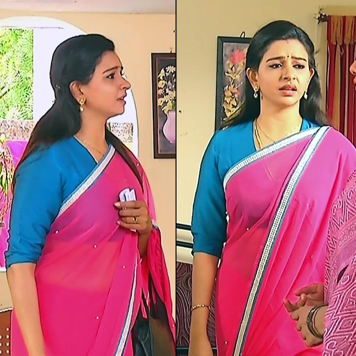 Divya ganesh tamil serial actress sumangali S4 7 sari pics