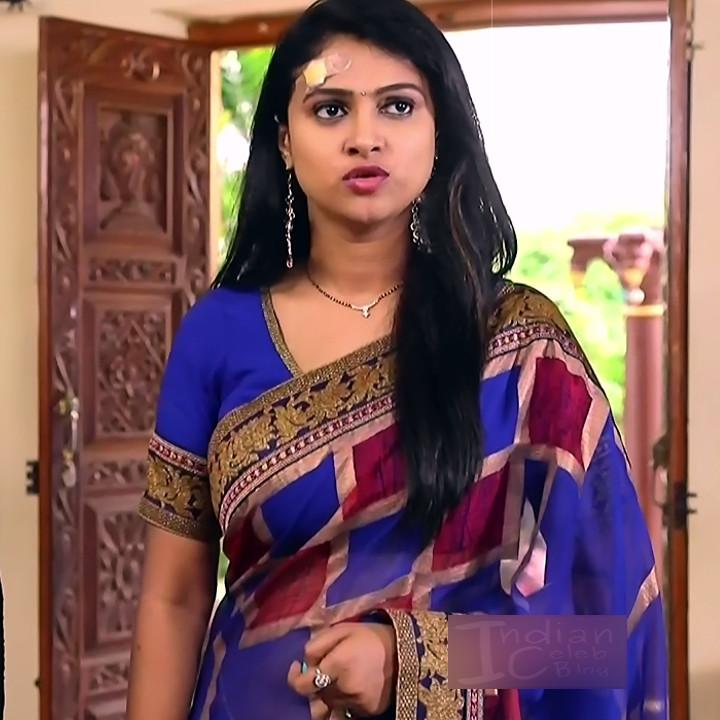 Kavitha tamil tv actress Neeli S1 2 hot saree caps