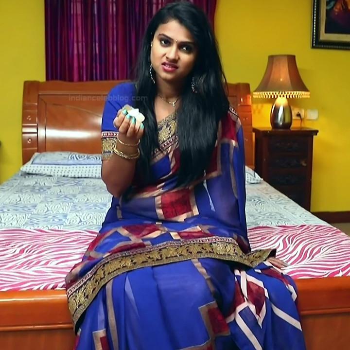 Kavitha tamil tv actress Neeli S1 3 hot saree caps