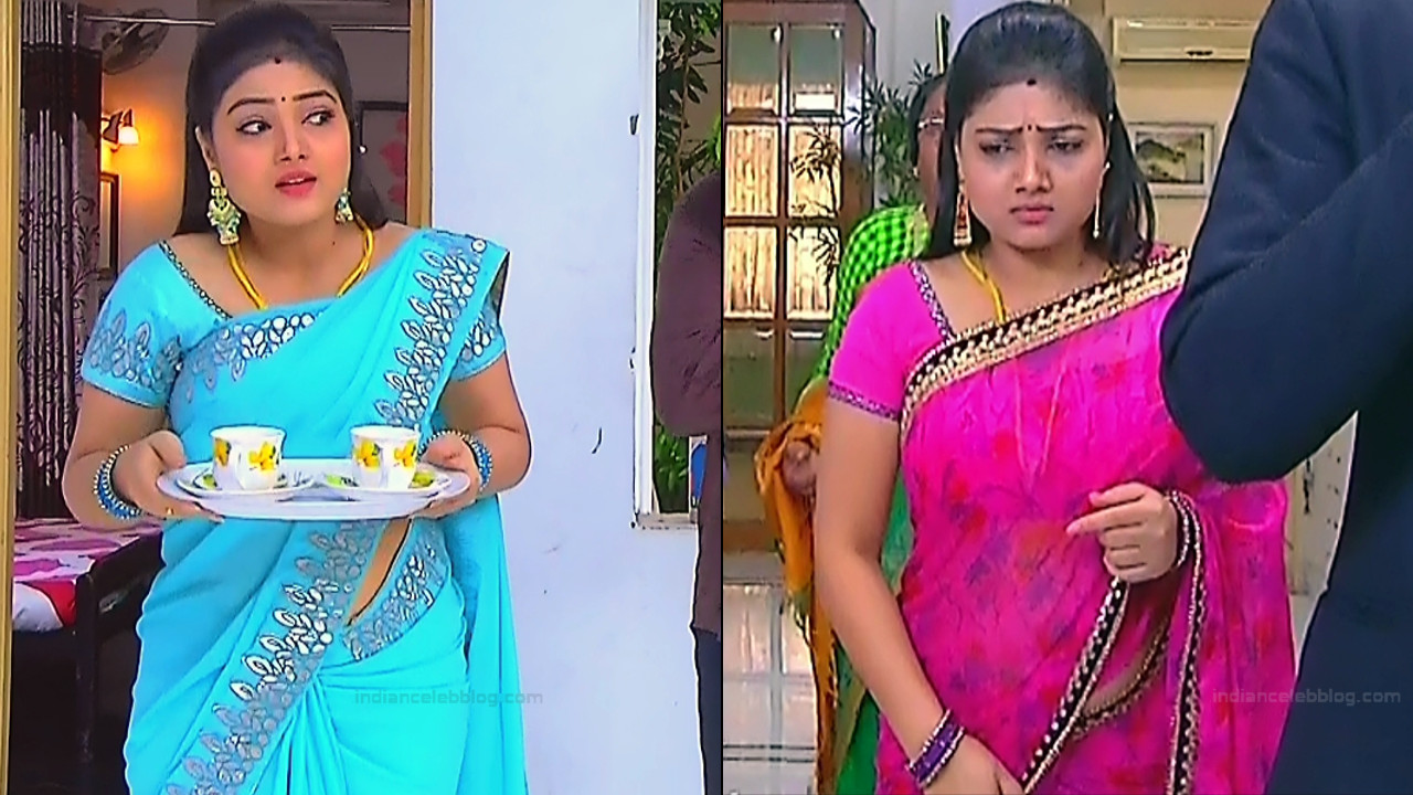 Priyanka nalkari tamil serial actress roja s1 1 saree pics