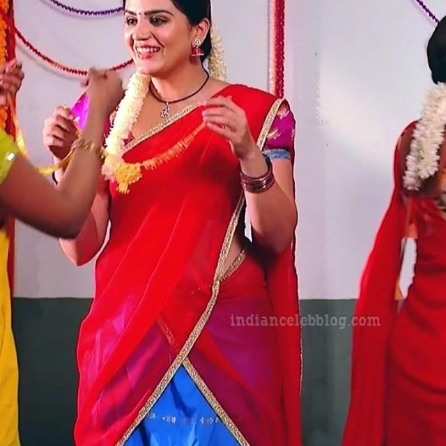 Aishwarya gowda telugu tv actress Akka MS1 1 saree photo